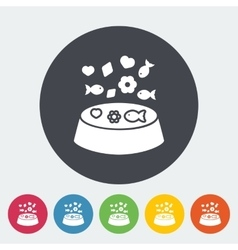 Animal Bowl Flat Icon vector image
