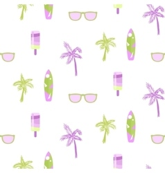 Summer beach party seamless pattern for cards or vector