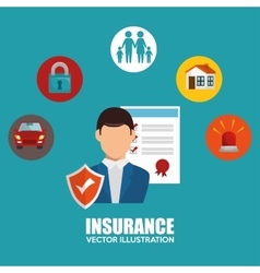 Agent insurance set protection design vector