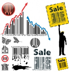 barcode graph vector image vector image