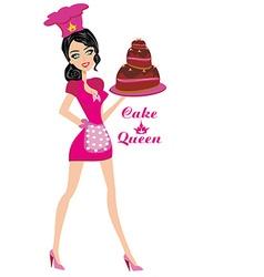 Cake Queen vector image