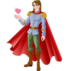 charming prince vector image vector image