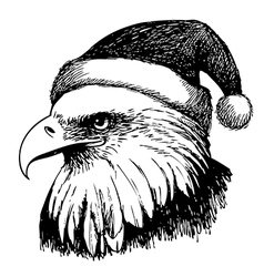 Christmas eagle vector