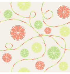 Citrus seamless pattern with orange lemon and lime vector image vector image