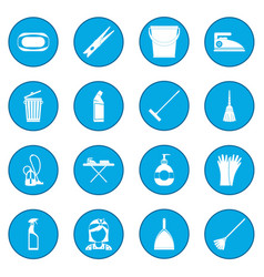 Cleaning icon blue vector