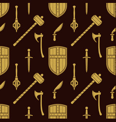 Cold steel arms pattern vector