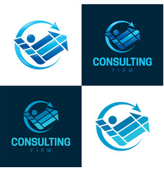 Consulting and counseling icon and logo vector