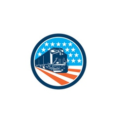 Diesel train american stars stripes retro vector