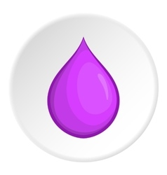Drop icon cartoon style vector image