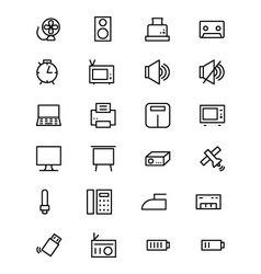 Electronics line icons 2 vector