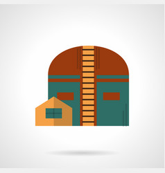 Factory storage facility flat color icon vector
