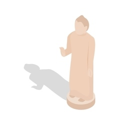 Giant buddha statue sri lanka icon vector