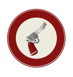 Gun wild west icon vector