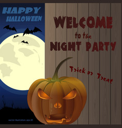 halloween invitation poster design vector image
