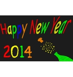 Happy newyear 2014 vector