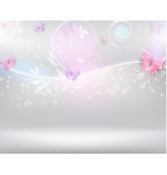 Horizontal background with color butterflies vector image vector image