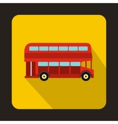 London double decker red bus icon vector