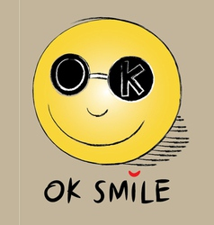 Okay smile vector
