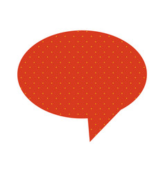 Oval speech with tail and red background with vector