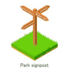 park singpost icon isometric style vector image vector image