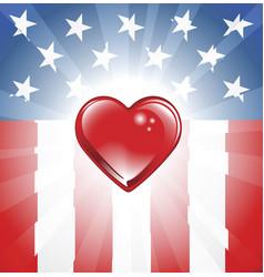 patriotic heart background vector image vector image