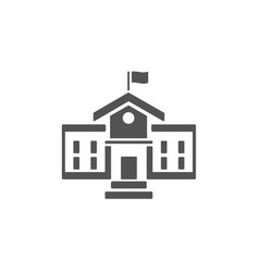 School building icon on a white background vector