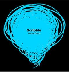 Scribble blue bubble vector