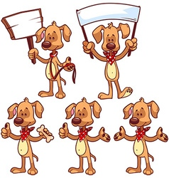 Set of cartoon dog on a white background vector image vector image