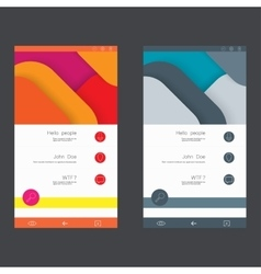Set of user interface templates to-date design vector image