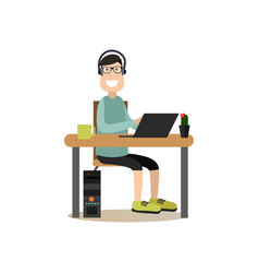 software tester in flat style vector image