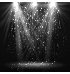Spotlight vintage background vector