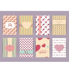Valentines day and Wedding day Set Vintage and vector image vector image