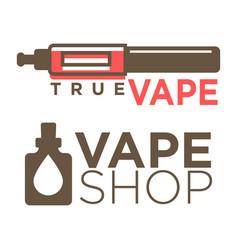 vape shop logotypes on white flat vector image vector image