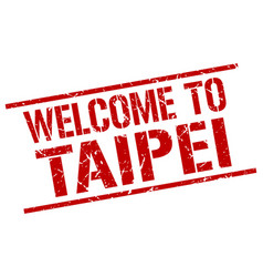 Welcome to taipei stamp vector