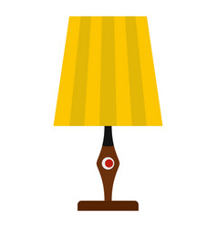 Yellow table lamp icon isolated vector