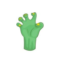 Zombie hand icon cartoon style vector image
