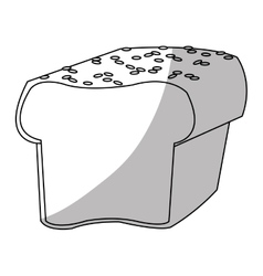 Isolated bread design vector