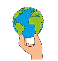Save the world planet ecology vector