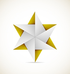 Origami star vector