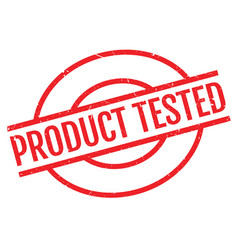 product tested rubber stamp vector image