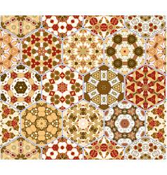 hexagon set template vector image