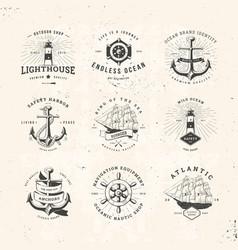 Sail logo set vector