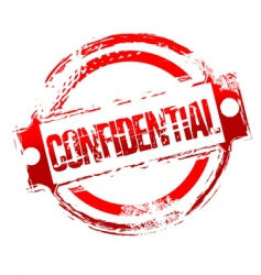 grunge confidential stamp vector image