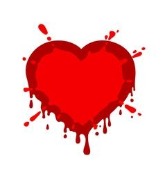 Heart blob vector image
