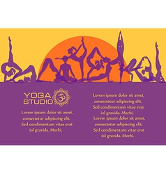 Flat colorful set of yoga poses vector