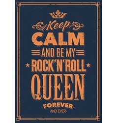Rock Queen Typography vector image