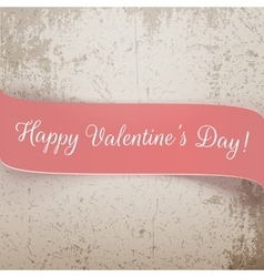 Valentines day pink banner with text vector