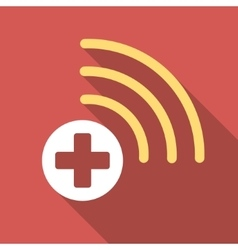 Medical source flat square icon with long shadow vector