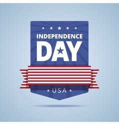 Independence day badge vector