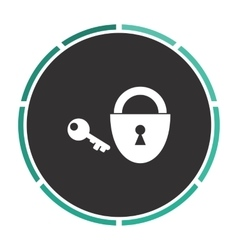 Padlock and key computer symbol vector